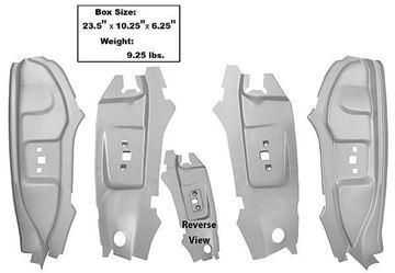 Picture of B-PILLAR KIT WELD-THRU PRIMER 4PCS : 3644BWT MUSTANG 67-68