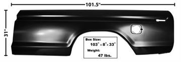 Picture of BEDSIDE SKIN 73-79 LH SQUARE HOLE : 3263 FORD PICKUP 73-79