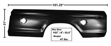 Picture of BEDSIDE SKIN 73-79 LH SQUARE HOLE : 3263A FORD PICKUP 73-79